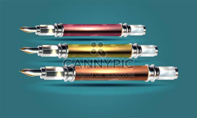 Vektor-Satz von Tinte Kugelschreiber - Kostenloses vector #130256
