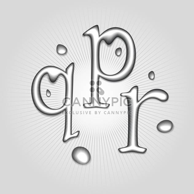 Vector water letters P, Q, R - Free vector #130366