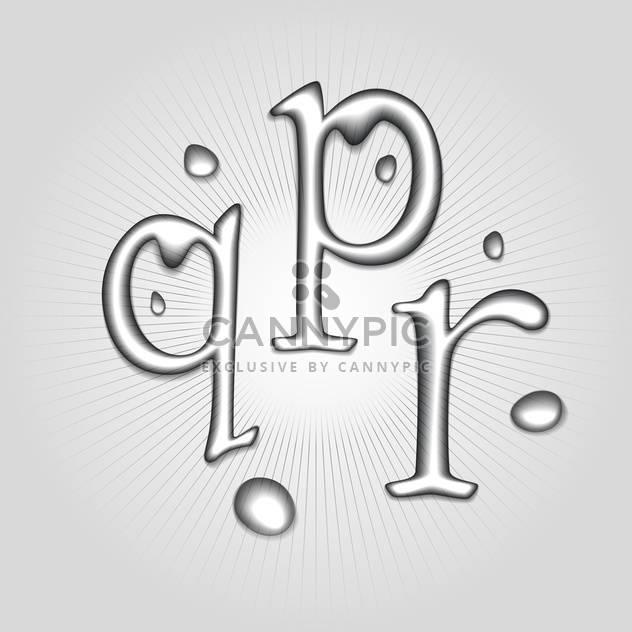 Vektor-Wasser Buchstaben P, Q, R - Kostenloses vector #130366