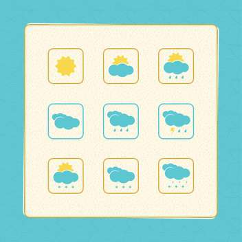 Set with Weather Vector Icons - Kostenloses vector #130386
