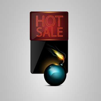 Vector black bomb with sale banner - Free vector #130466