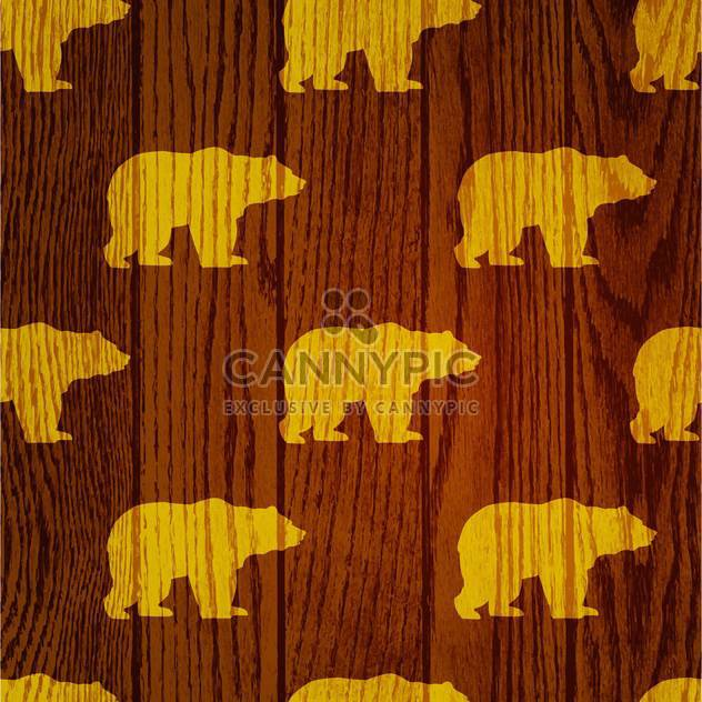 bear animal wooden background - Free vector #130506