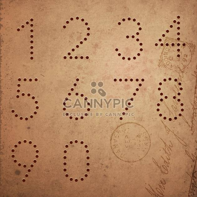 vintage style numbers typeset - Free vector #130596