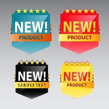 new product vector label on grey background - vector #130616 gratis