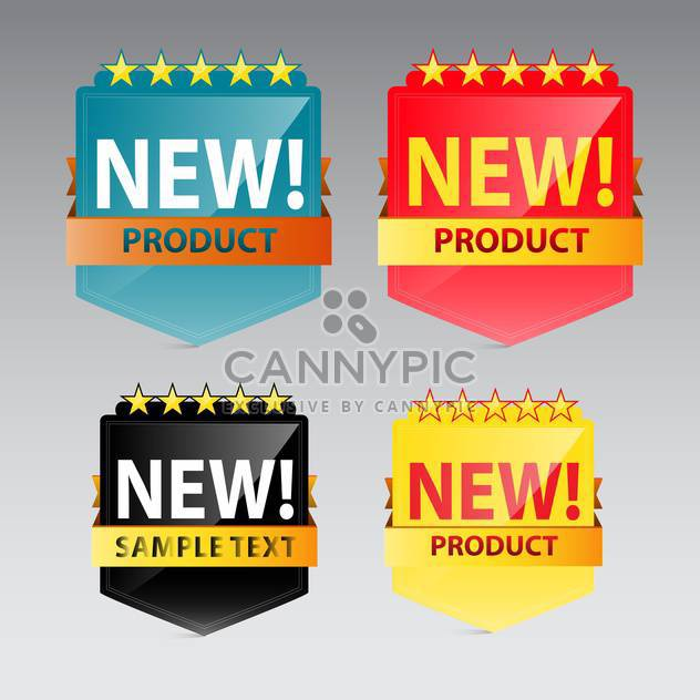 new product vector label on grey background - Free vector #130616