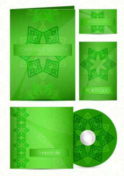 Stationery green color design set - vector #130666 gratis