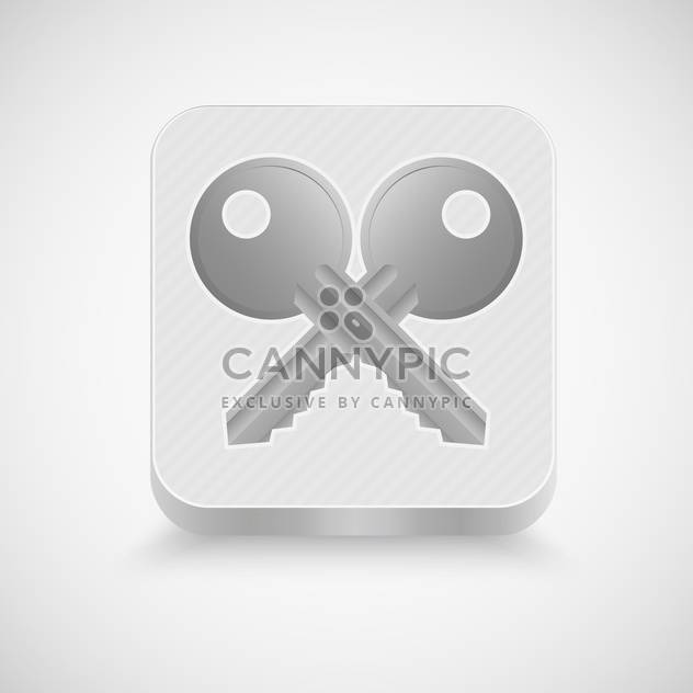 Vector illustration of two metal keys on grey background - Free vector #130676