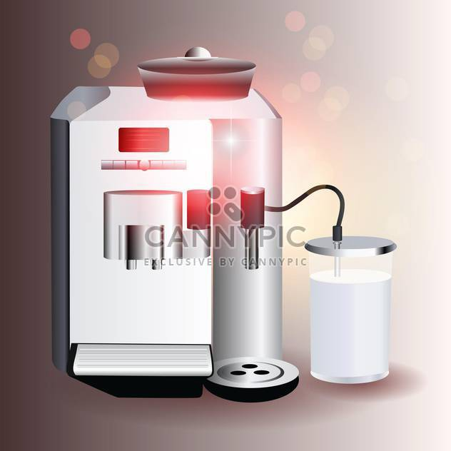 vector illustration of coffee machine on grey background - Free vector #130766