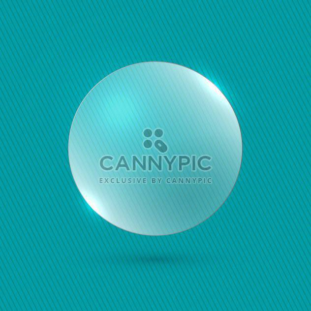 vector illustration glossy bubble on blue background - Free vector #130786