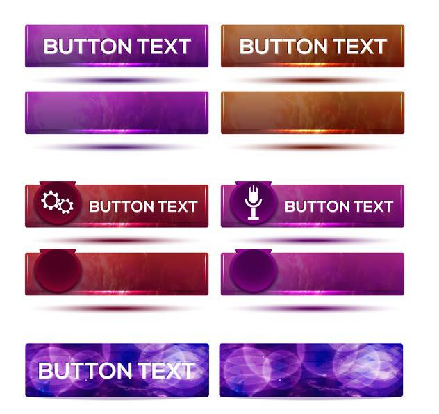 vector set of web buttons on white background - vector #130806 gratis
