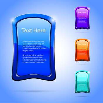 Vector glossy banners with text place - vector gratuit #130816