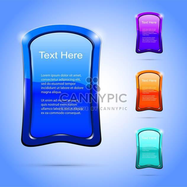 Vektor glänzend Banner mit dem Text-Platz - Free vector #130816