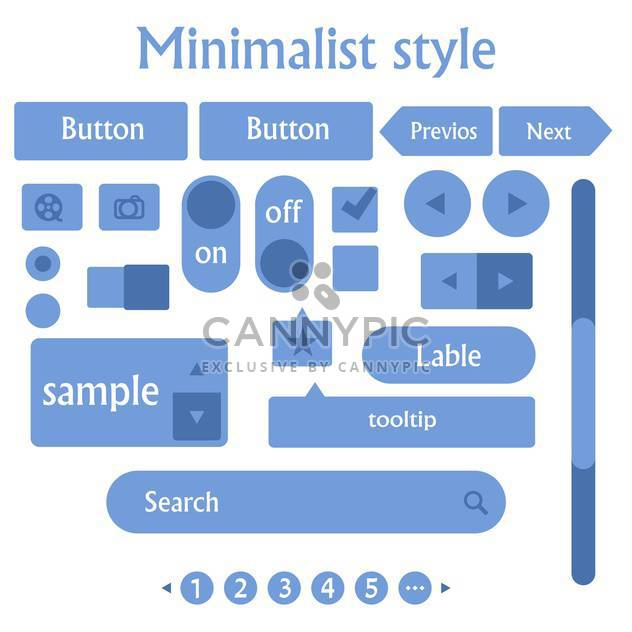 web site minimalist design on white background - Free vector #130836