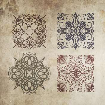 Vintage decoration elements on grunge background - Free vector #130856