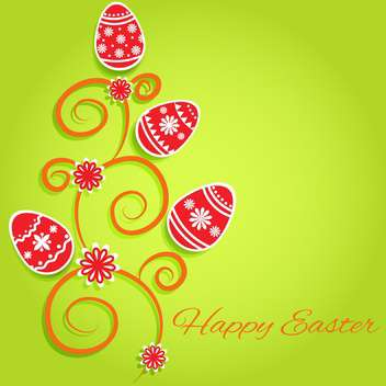 Happy easter greeting card vector illustration - Free vector #130886