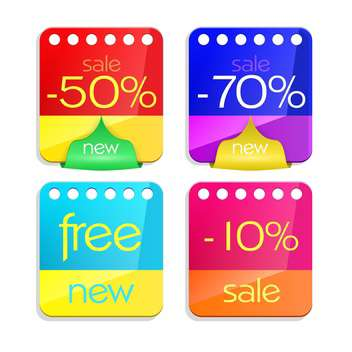 Sale percent sticker price tags set - Free vector #130926