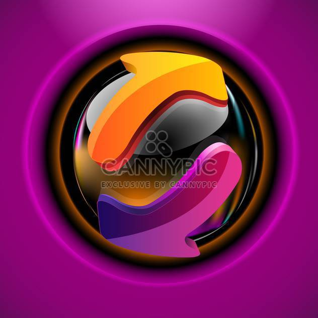 Button web icon with arrows - Free vector #130936