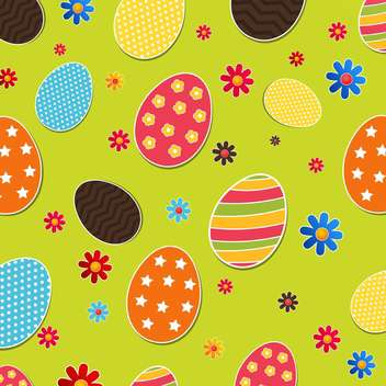 Seamless pattern with easter eggs - vector gratuit #130956