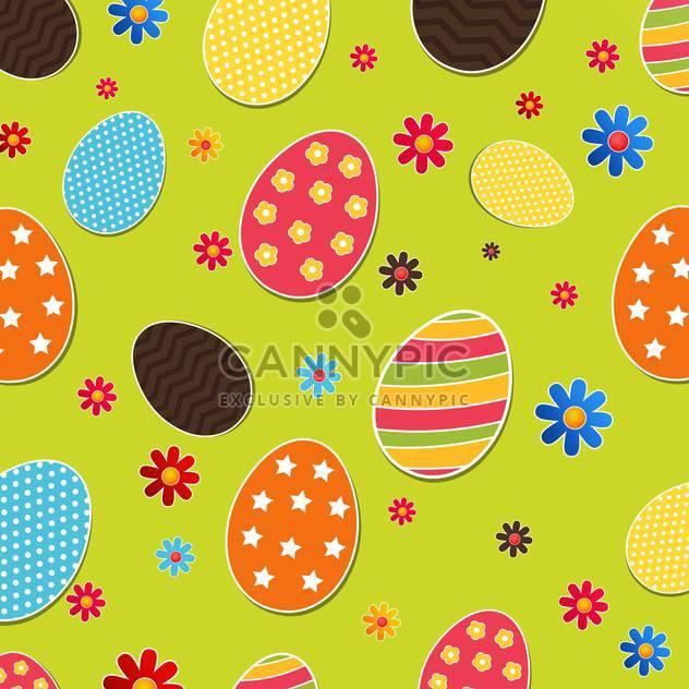 Seamless pattern with easter eggs - Free vector #130956