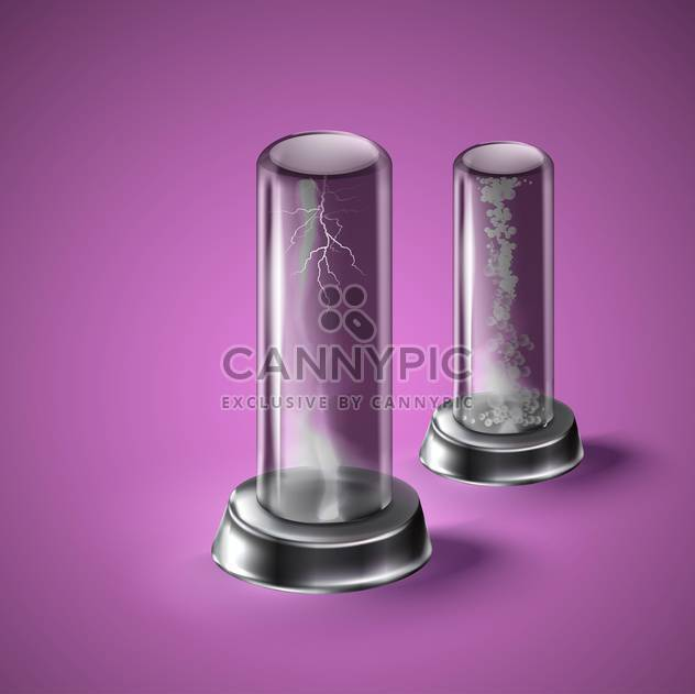 illustration of laboratory equipment on purple background - Free vector #130966