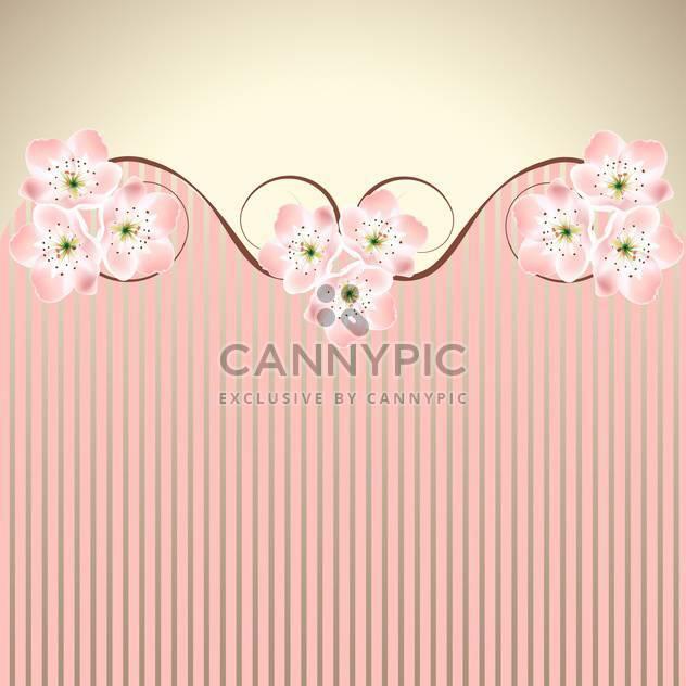 vector decoration pink honeysuckle sakura or cherry blossom waved background - Free vector #130986