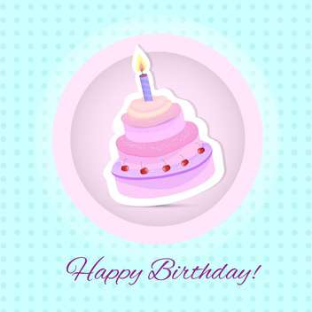 Birthday cake card vector Illustration - Free vector #131076