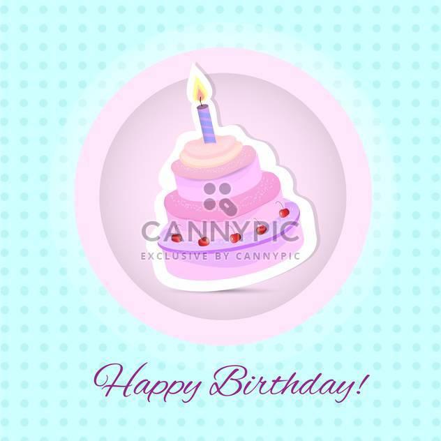 Birthday cake card vector Illustration - Free vector #131076