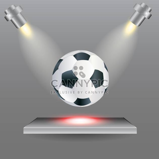Football ball on stage with lights from the sides - Free vector #131336