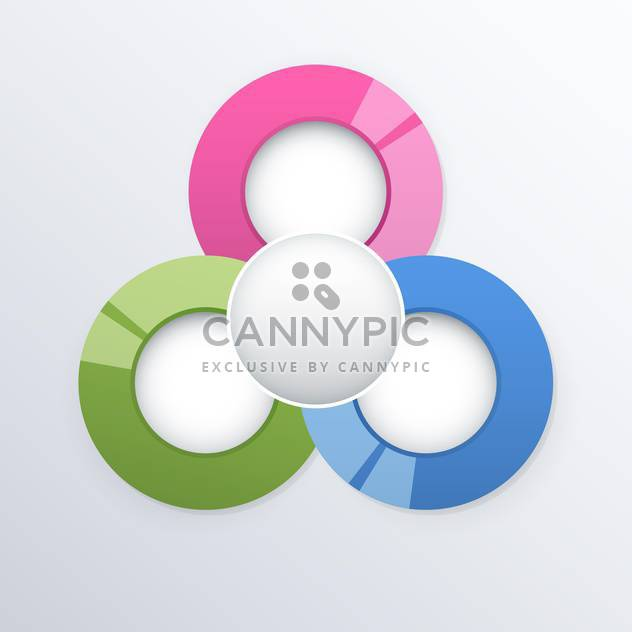 Abstract colorful circles on white background - Free vector #131396