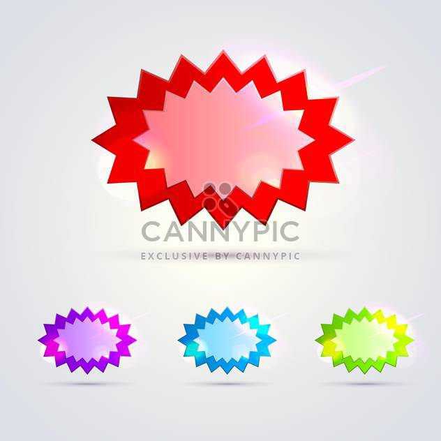Glossy banners set vector illustration - Free vector #131436