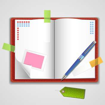 Vector notepad paper illustration - vector #131446 gratis