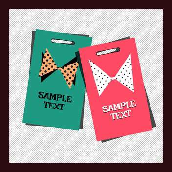 Cards with bow in black frame vector illustration - Free vector #131516