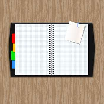Vector notepad paper illustration - Free vector #131586