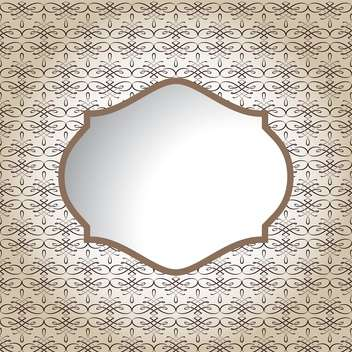 Vintage empty frame with space for text - vector gratuit #131596