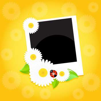 Greeting card with flowers vector illustration - Free vector #131726