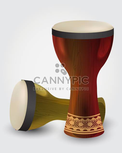 Percussion drums illustration on white background - Free vector #131766