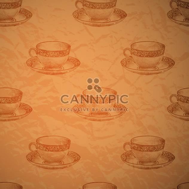 Vektor Jahrgang nahtlose Hintergrund mit cups - Kostenloses vector #131776