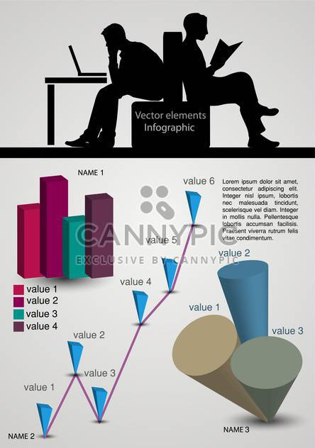 Vector infographic elements illustrations - Free vector #131816