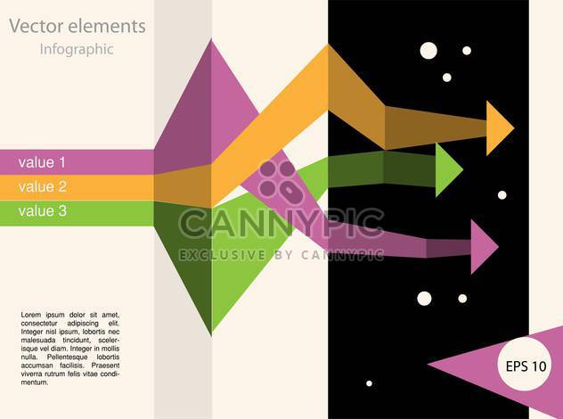 Vector infographic elements illustrations - Free vector #131836