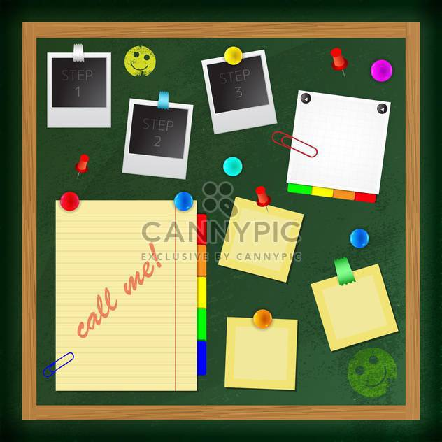 Big collection of message paper on board - Free vector #131876