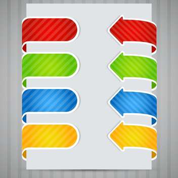 Colored arrow stickers vector set - бесплатный vector #131926