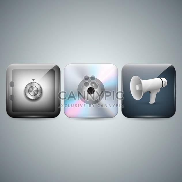 Telefon-Menü-Icons auf grauen Hintergrund - Kostenloses vector #131936