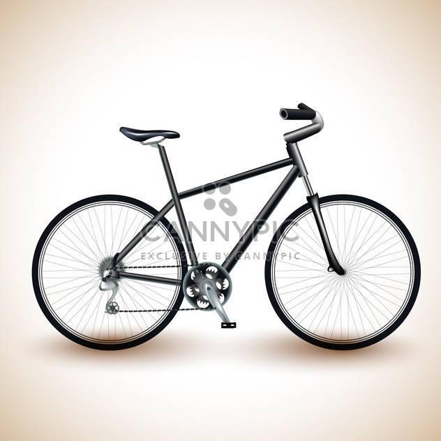 Vektor-Illustration eines schwarzen Fahrrad auf hellem Hintergrund - Kostenloses vector #131956