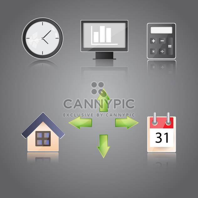 Eingestellt von Symbolen auf einem Thema Kommunikation Vektor-illustration - Free vector #131976