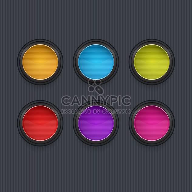 Farbige Runde Vektor-Icons auf dunklem Hintergrund - Free vector #131986