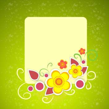 Vector floral frame on green background - vector #132076 gratis