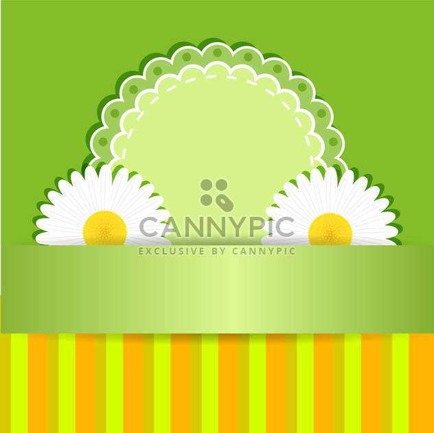 Vector floral frame on white background - Free vector #132086