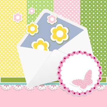 Vector set of cute frames with floral background - vector gratuit #132096