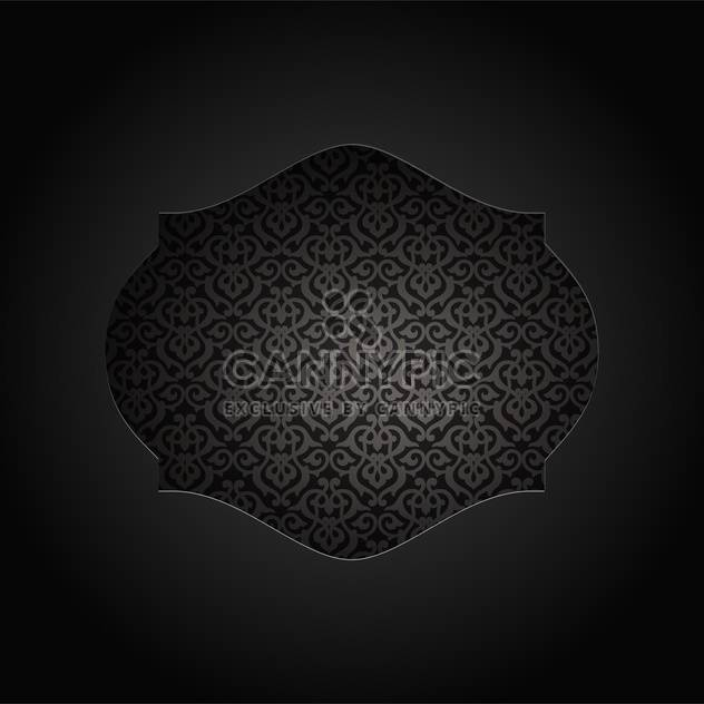 Vintage frame with seamless pattern inside on black background - Free vector #132136