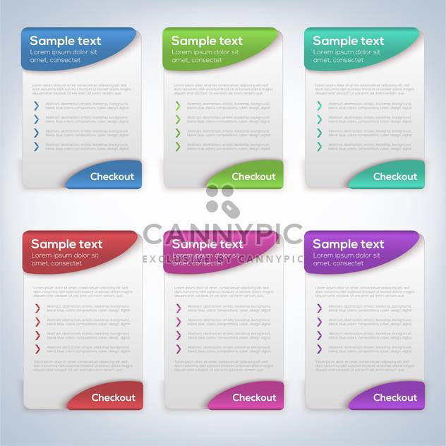 Vector illustration of color cards with place for customer text - Free vector #132186